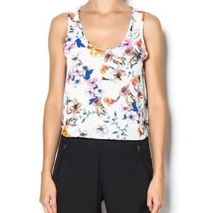 Eighty Sixty sleeveless floral crop blouse